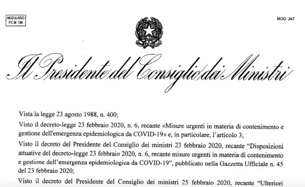 DPCM - Covid-19